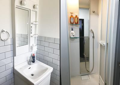 清潔な更衣室・シャワールーム